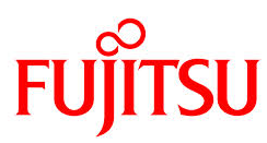 'FUJITSU' written in red bold letters