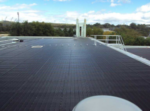 AIS Rooftop with Solar Pool Heating Close up