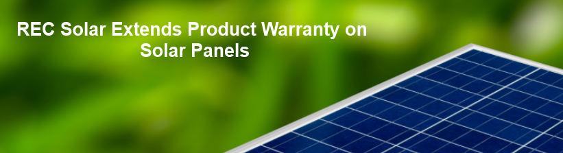 REC Extends Warranty on Solar Panels